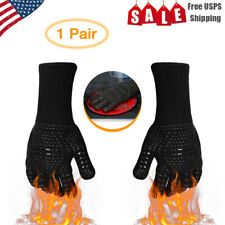 2PCS 932°F Extreme Heat Resistant  BBQ Hot Grilling Gloves Cooking Oven Gloves U