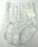 Vintage Intimo Amore Lace Panty Girdle Medium Boned Shapewear White 80s 90s NEW