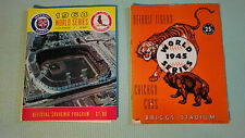 1968 World Series Detroit Tigers vs. St. Louis Cards - Official Program w insert