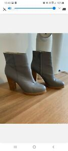 WITTNER Grey Leather Ankle Boots Size 41