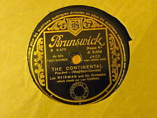 Disque 78 tour Brunswick Leo Rfisman The continental/A needle in a Haystack