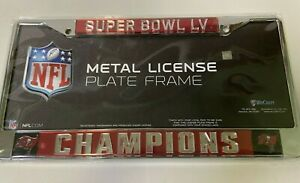 Tampa Bay Buccaneers NFL Super Bowl Champions Chrome License Plate Frame Logo