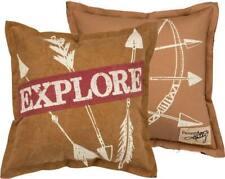 "New Rustic Canvas ""EXPLORE"" Decor Pillow"