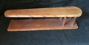 Vintage Hand-Crafted Wood Table Top Ironing Board two-tier shelf home art decor