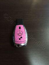 Carbon Pink Folie Dekor Schlüssel Mercedes A B C D E G S Klasse AMG 2 Tasten