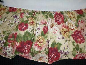 Ralph Lauren Full Bed Skirt Dust Ruffle Constance Post Road Tan Floral