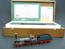 """Trix Fine Art HO Brass 4-4-0 """"Drache"""" Locomotive in Wooden Case, 2 Rail, #22519"""
