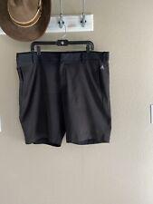 Adidas Shorts Mens Size 40 Bermuda Tennis Golf Black Stretch Shorts Pockets