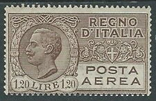 1926-28 REGNO POSTA AEREA EFFIGIE 1,20 LIRE MH * - W259