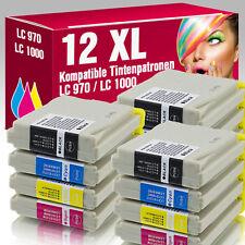 12 Druckerpatronen für Brother DCP 357 C LC970 LC1000