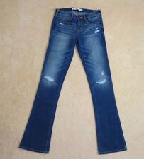 NWT Abercrombie Womens Skinny Bootcut Jeans Size 2 Dark Wash Pants Mid Rise