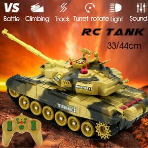 44cm 2.4G RC Battle Tank Crawler Toys Car Remote Control Launch BB Bullets Model