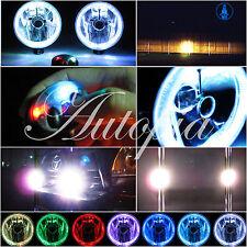 5 Inch / 97 mm Xenon White Fog Light Kit w/ White Halos Angel Eye Lamps
