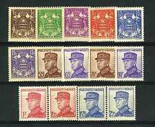 1937-39 MONACO N°154/166 TIMBRES POSTE AVENE LOUIS II xx