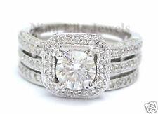 2.25CT ROUND ANTIQUE DIAMOND ENGAGEMENT RING & BAND SET