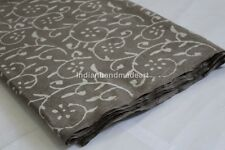 10 Yard Hand Block Print Cotton Fabric Flower Printed 100% Soft Cotton Fabric 06