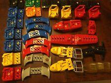LEGO 5 x toraci CASTELLO REGNO Medaglione testa di leone ROSSO minifigura Tronco Bundle