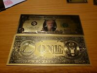 Donald Trump Gold $1 Bill With Amazing Color & Beautiful Detail On These Bills