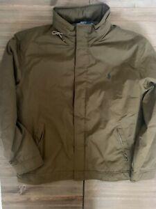 Vintage Polo Ralph Lauren Nylon Fleece Lined Field Jacket Mens Size XL