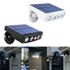 LED Solar Powered PIR Motion Sensor Wall Lights Outdoor Garden Security Lamp UK