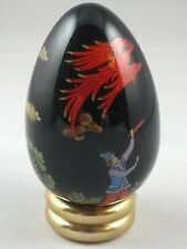 Russian lacquer style egg - Franklin Mint Treasury of Eggs