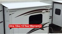 RV Slide Out Awning Replacement Fabric White- 18oz Ultra 10 Year Warranty