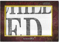 Penny Dreadful Prop Relic Card M04 M-04 Newspaper Version 6