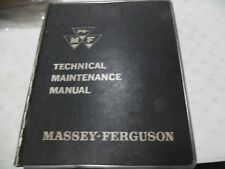 Massey Ferguson Technical Maintenance Manual Volume I