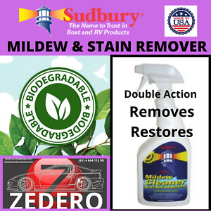 Mildew Stain Remover Cleaner Vinyl Canvas Cushions Seats Shower Household Marine