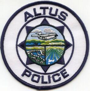 ALTUS OKLAHOMA OK POLICE PATCH