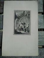 Curiosa rare gravure XVIIIème esotérisme ? alchimie ? signée TBE