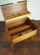 60er Vintage Mini Sideboard Kommode Anrichte Nussbaum Mid-Century Nähtisch