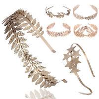 Gold Laurel Leaf Headband Grecian Headdress Roman Hair Crown Festival UK