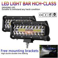 2x 7 inch 500W LED Work Light Bar Flood Spot Beam Offroad SUV Driving Fog Lights