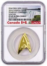 2016 Canada $200 1/2 oz. Gold Star Trek Starfleet Insignia NGC PF69 UC SKU43802