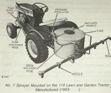 John Deere 7 Sprayer Parts Catalog Manual Book Original for garden tractor 5/79