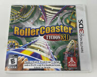 Roller Coaster Tycoon 3D (Nintendo 3DS, 2012) Complete Tested Working Atari
