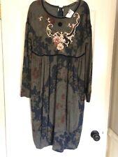 Brand New Designer Plein Sud Dress Long Sleeve Floral Print