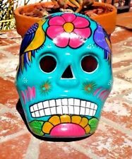 DAY OF THE DEAD CERAMIC CLAY SUGAR SKULL MASK HAND MADE IN MEXICO FREE SHIPPING