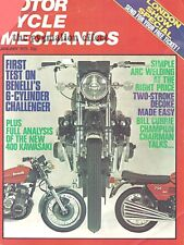 Motorcycle Mechanics 1975 Kawasaki KH400 S3 2-stroke Bill Currie Benelli 750 Six