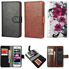 Slim Premium Clip-on Mobile Phone Case For Obi Worldphone MV1 - PU Leather L