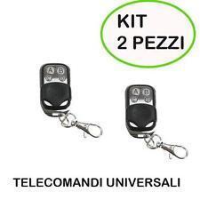 KIT 2 TELECOMANDO CANCELLO UNIVERSALE 433 MHz PER CANCELLI FAAC CAME BFT
