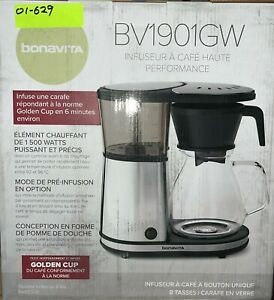 Bonavita 8-Cup Stainless Drip Coffee Maker with Glass Carafe