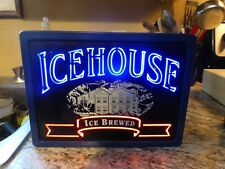 Ice House Beer Lighted Advertising Box Sign