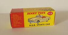 Repro Box Dinky Nr.113 MGB Sports Car