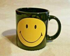 Waechtersbach mug yellow smiley Smiling and sad face on black Germany