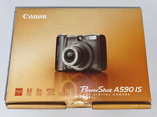 Canon PowerShot A590 IS 8.0MP Digital Camera with Accessories & Manual
