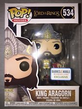 Funko Pop! Lord of the Rings  King Aragorn  #534 NEW Barnes & Noble Exclusive