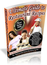 ULTIMATE GUIDE TO RESTAURANT RECIPES PDF EBOOK FREE SHIPPING RESALE RIGHTS