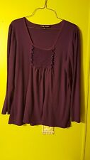 Simply Irresistible Woman's Solid Purple Shirt Size XL (GUC)